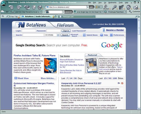 Netscape v 8