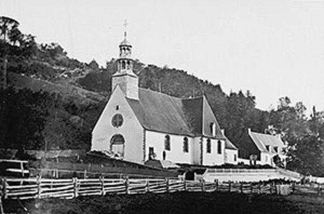 Inauguration de la Nouvelle-Église de Sainte-Anne-de-Beaupré