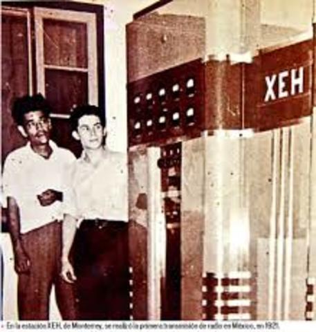 Primera transmisión en México de radio