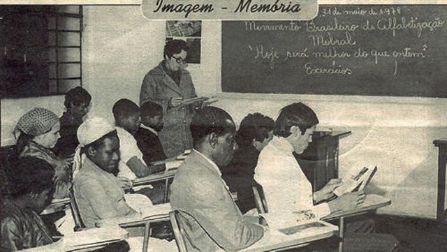 Preparativos para o Movimento Brasileiro de Alfabetização (MOBRAL)