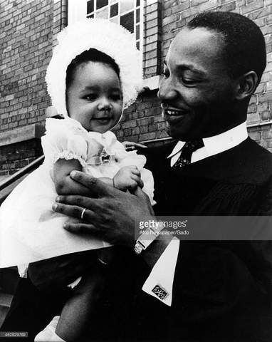 dr kings 1st dauther is born