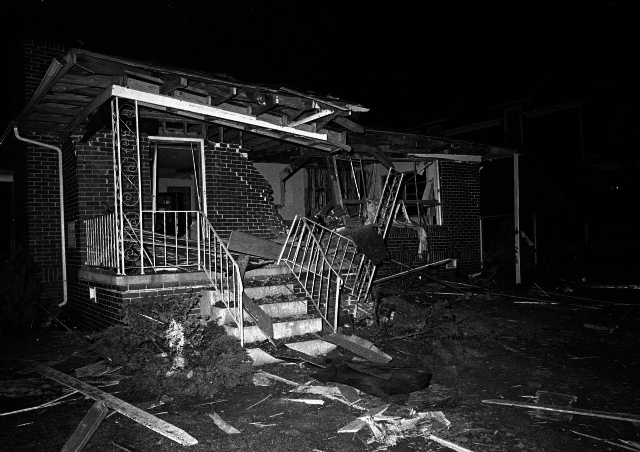 dr kings house is bombed