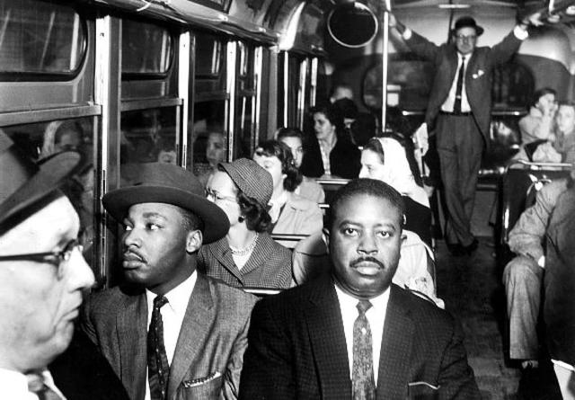dr king is alowed to ride in the bus