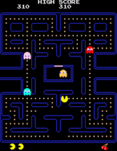 PacMan created, first game to focus on platforms and characters