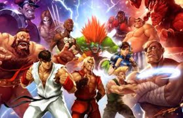 Capcom releases Street Fighter, bringing fighter games up to new heights.