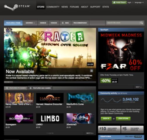Valve releases Steam platform