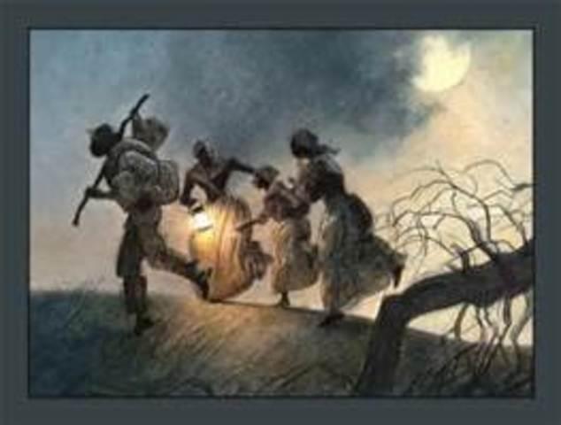Harriet Tubman Escaping Slavery