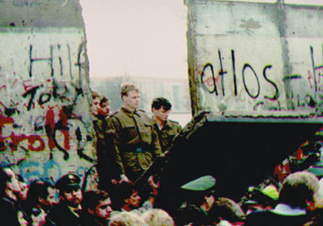 Caída del muro de berlín.