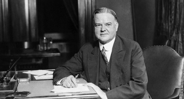 When was Herbert Hoover Elected fo president ?