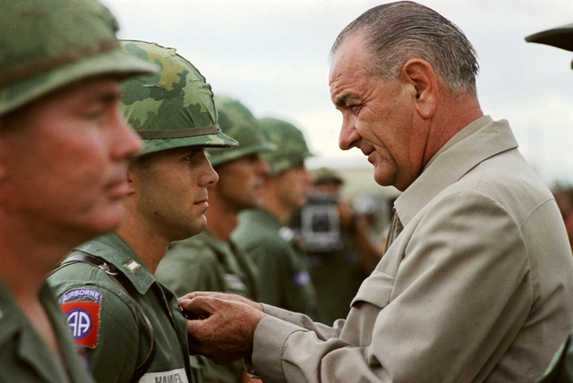 Johnson Visits Vietnam