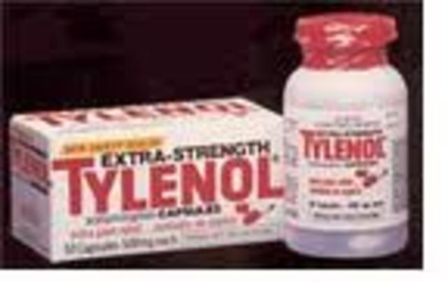 Tylenol controla el 35% del mercado de analgecicos.