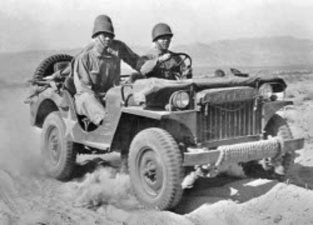 Jeep introduced and used in WWII