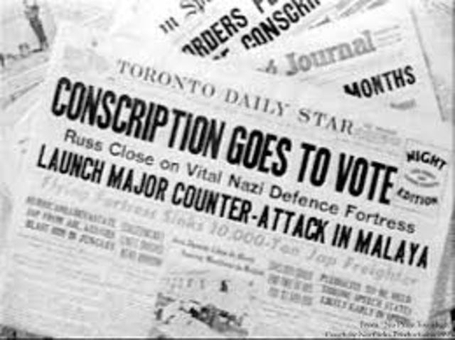 WW2 Conrcription Crisis