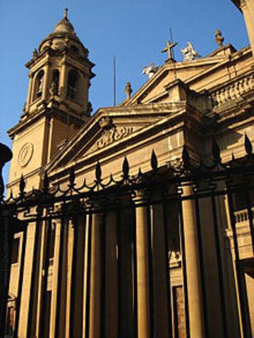 Fachada de la catedras de Santa María de la real Pamplona