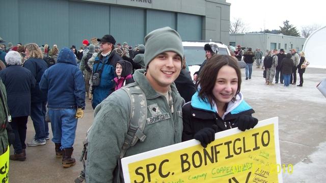 Tony got back from Iraq
