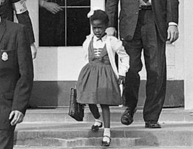 Ruby Bridges Desegregated Elementary School