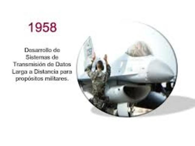 Desarrollo de Sistemas de Transmisión de Datos a Larga Distancia para propósitos militares.