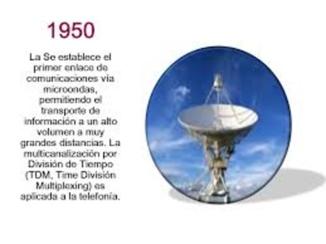 Se establece el primer enlace de comunicaciones vía microondas