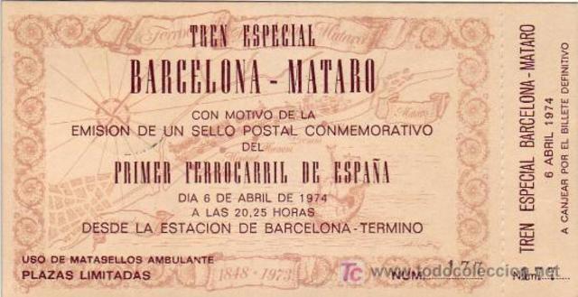 PRIMER FERROCARRIL EN ESPAÑA