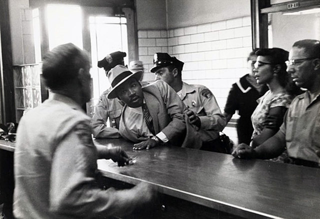 king is arrested in albany,georgia