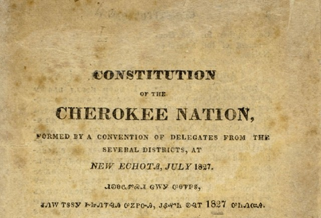 Cherokee Constitution