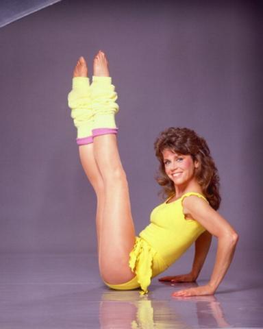 Jane Fonda et le fitness en VHS