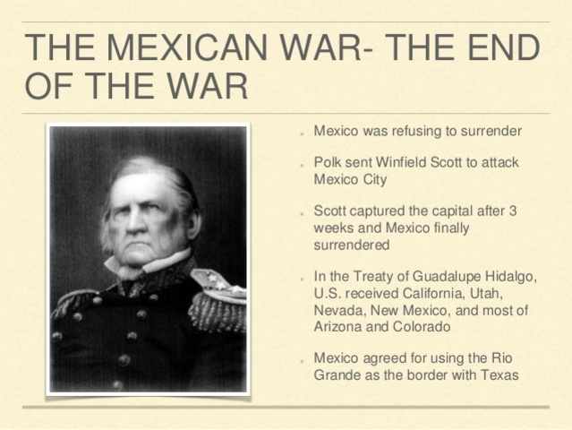 President Polk declares war on Mexico