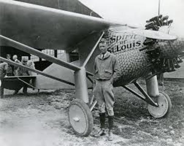Charles Lindbergh transatlantic flight