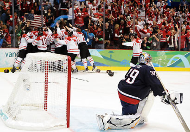 team USA loses to canada in the 2010 olympics