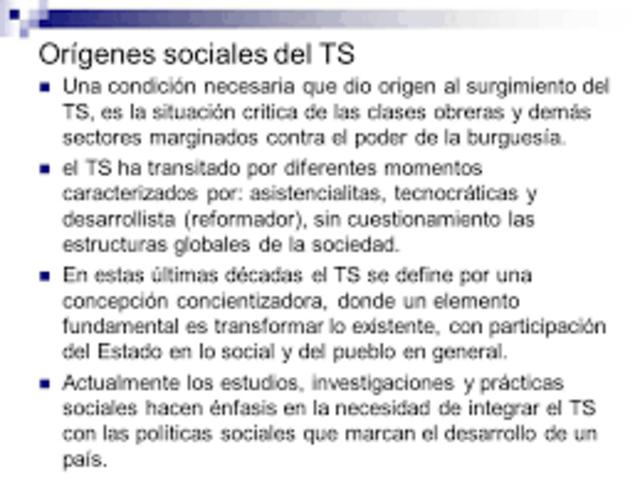 CONTEXTO GENERAL DEL INICIO DEL TRABAJO SOCIAL EN COLOMBIA
