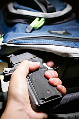 Peter Grabs a Pistol