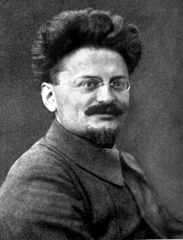 Trotsky Forced into Exile