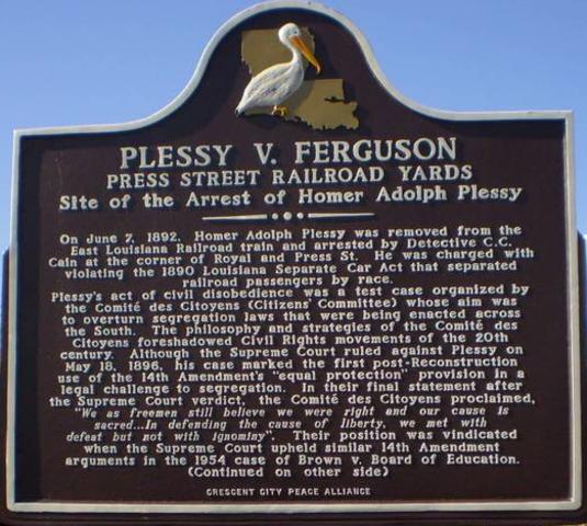 Plessey v. Ferguson is decided