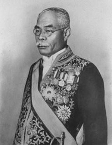 Prime Minister Osachi Hamaguchi takes office