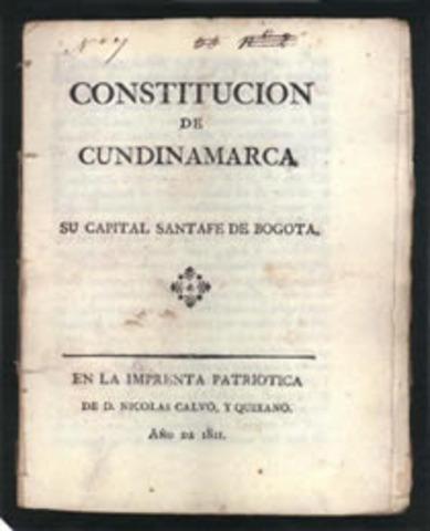 Promulgada Constitución de Cundinamarca.