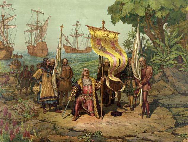 Colubus sails the ocean blue