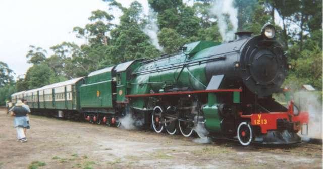 First steam locomotive test