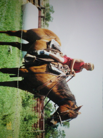 First time ever riding a horse