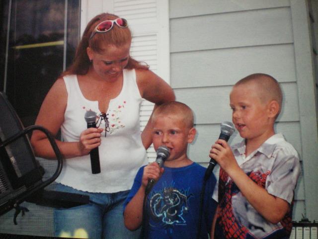 First time singing karaoke