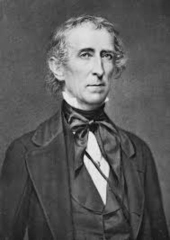 John Tyler becomes president, Taylor dies (Whig)