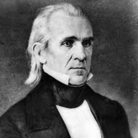 James K. Polk Elected (Democrat)