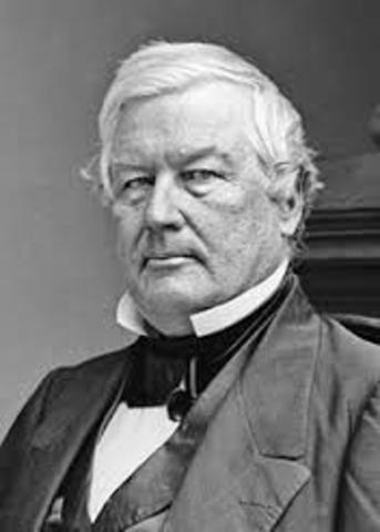 Millard Fillmore becomes president, Taylor Dies (Whig)