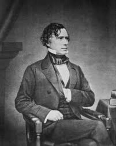 Franklin Pierce Elected (Democrat)