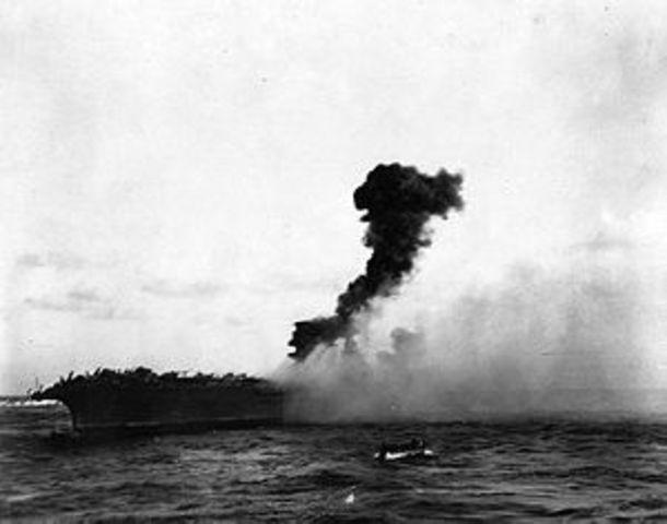 Aliados japoneses pierden en la batalla del mar de Coral