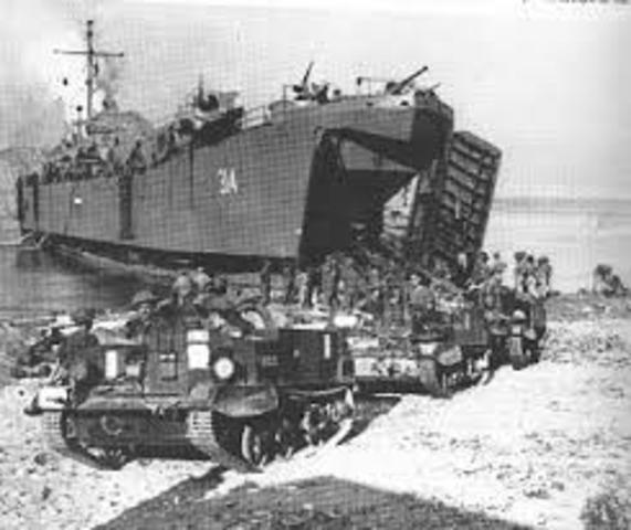 Ejército aliado invade Italia