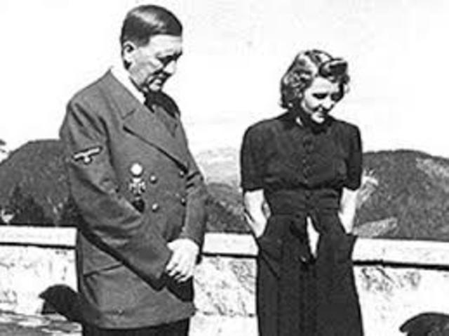 Suicidio de Hitler y su esposa Eva Braun