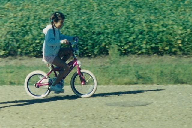 i learned how to ride a bike (: