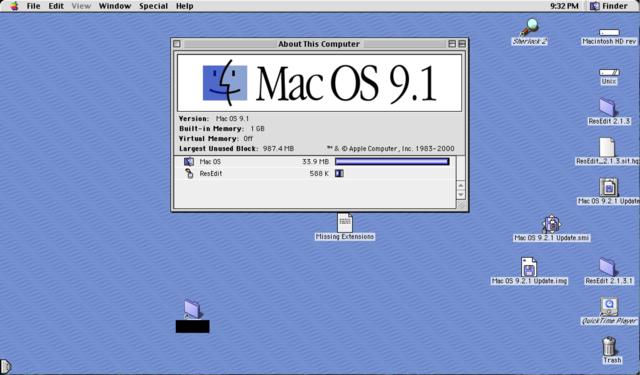 Mac Os x 9.1