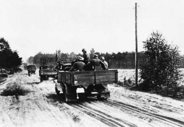 Beginn des zweiten Weltkrieges