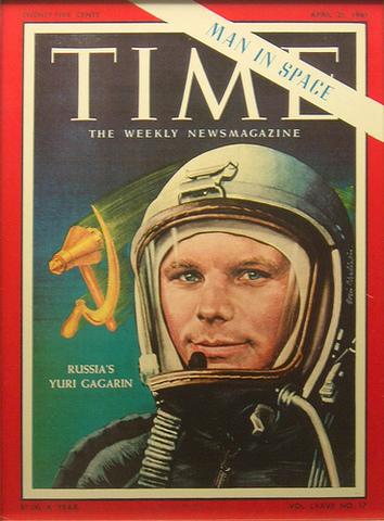 Yuri Gagarin Enters Space
